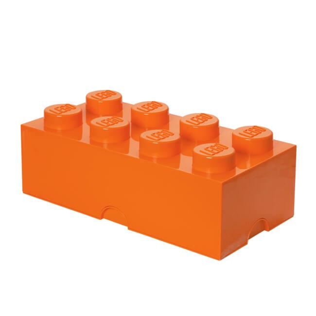 LEGO Storeage Brick 8 - Narancs tároló blokk