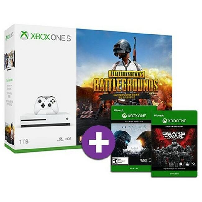 Microsoft Xbox One S (Slim) 1TB + Playerunknown's Battlegrounds + Gears of War ultimate + Halo 5 Játékkonzol