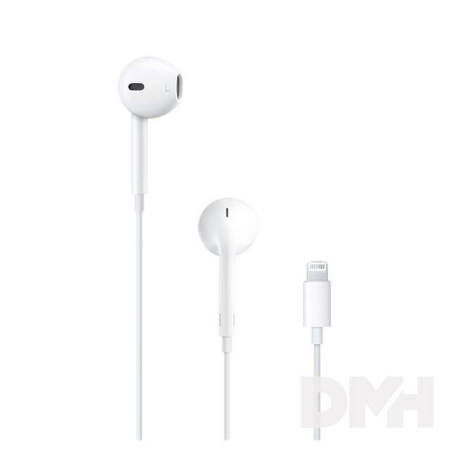 Apple Earpods fülhallgató távvezérlővel és mikrofonnal (Lightning csatlakozó)
