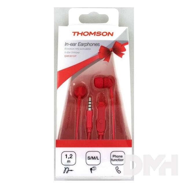 Thomson 132487 EAR3015P GIFTBOX In-Ear vörös fülhallgató headset