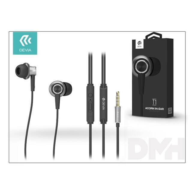 Devia ST986988 Acorn T1 fekete mikrofonos fülhallgató