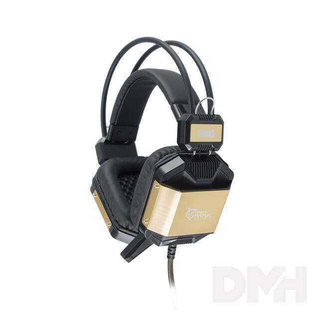 White Shark GH-1646BG JAGUAR fekete/arany Gaming headset