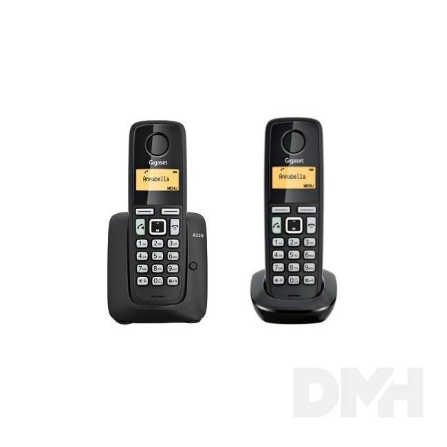 Gigaset A220 DUO fekete dect telefon