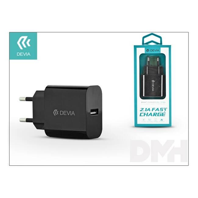 Devia ST300196 Smart 2.1A univerzális USB fekete hálózati töltő