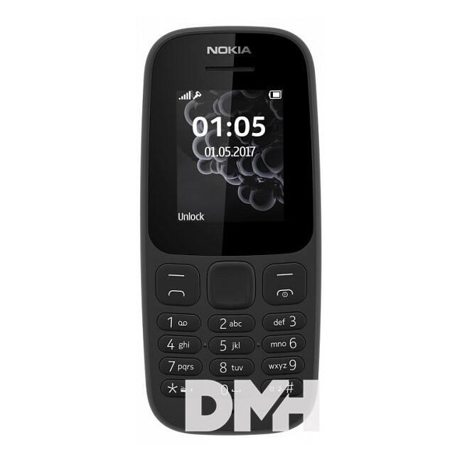 "Nokia 105 (2017) 1,4 "" Dual SIM fekete mobiltelefon"