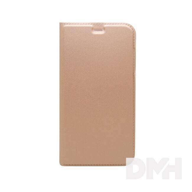 Cellect BOOKTYPE-IPHX-RGD iPhone X rózsaarany oldalra nyíló flip tok