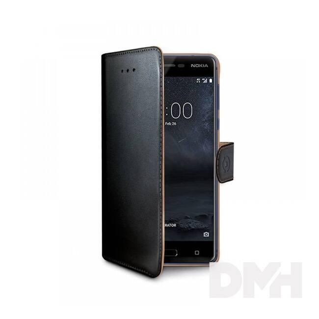 Celly WALLY660 Celly Nokia 5 fekete oldalra nyíló műbőr tok