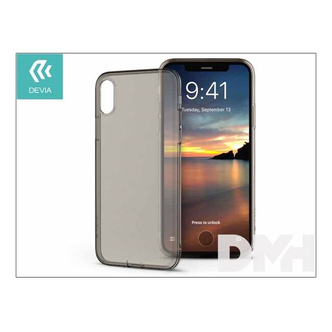 Devia ST307966 NAKED iPhone X átlátszó tea hátlap