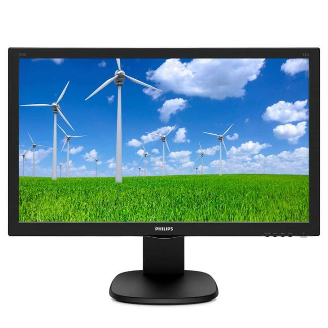 Monitor Philips 243S5LHMB/00, 23,6'', D-Sub/HDMI, speakers