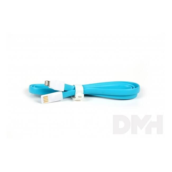 iTotal CM2641B 1m lightning lapos kék töltőkábel