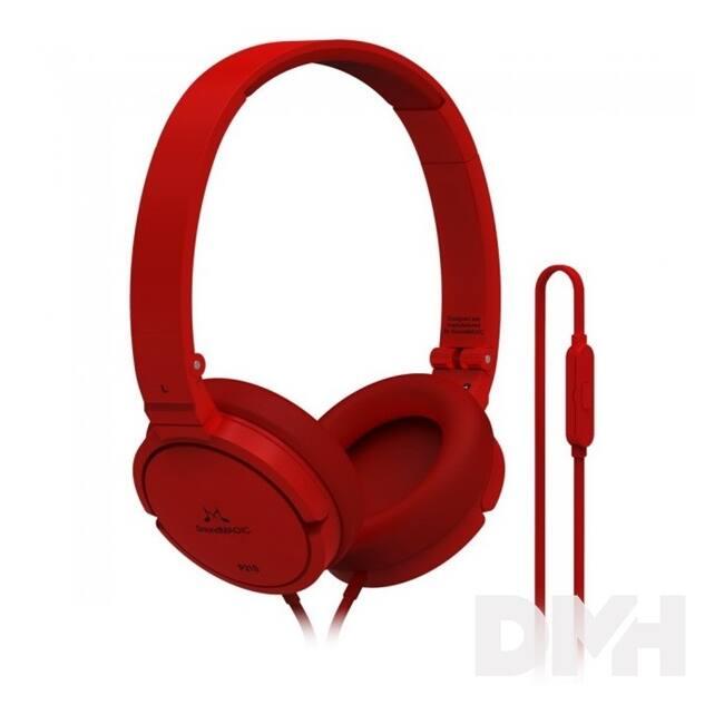 SoundMAGIC P21S On-Ear piros headset