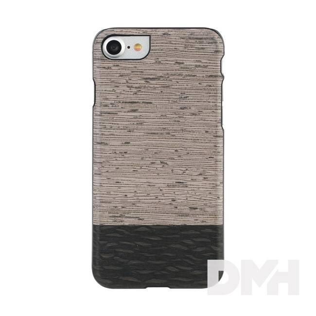 Man and Wood M7092B iPhone 7 szürke-barna fa tok