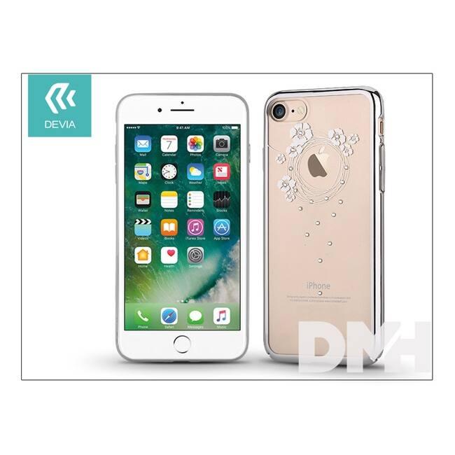 Devia ST994099 Crystal GARLAND iPhone 7 ezüst hátlap