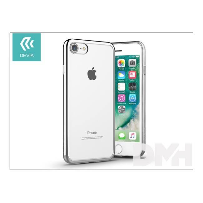 Devia ST992651 GLITTER SOFT iPhone 7 ezüst hátlap
