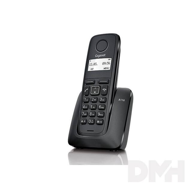 Gigaset A116 fekete dect telefon