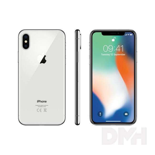 Apple iPhone X 64GB silver (ezüst)