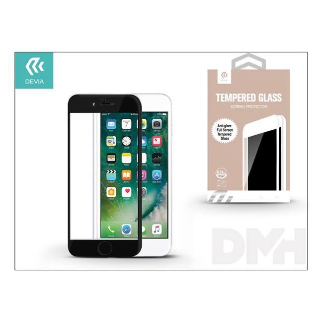 Devia ST993436 iPhone 7+ fekete üveg képernyő + Crystal hátlapvédő fólia