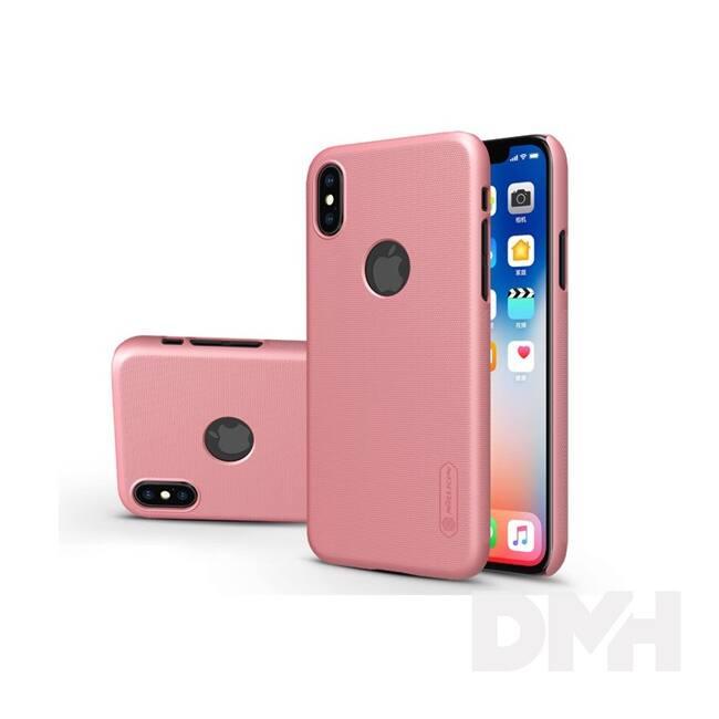 Nillkin NL147379 FROSTED Logo iPhone X rózsaarany hátlap képernyővédő fóliával