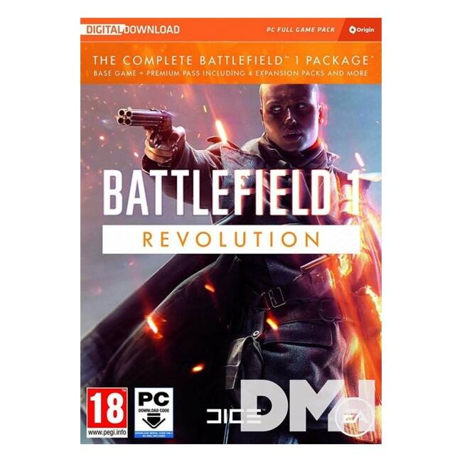 Battlefield 1 Revolution Edition PC CZ/SK/HU játékszoftver