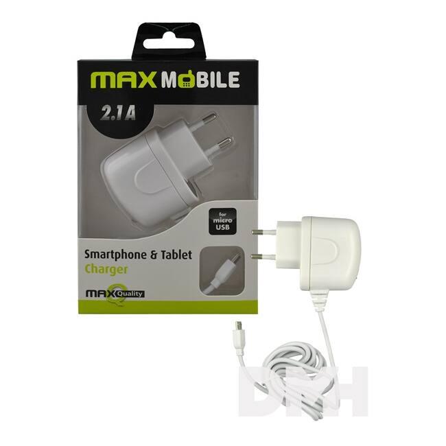 Max Mobile tablet/telefon micro USB fehér hálózati töltő