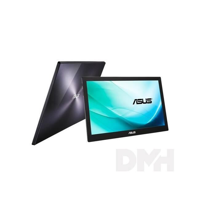 "Asus 15,6"" MB169B+ LED hordozható USB fekete-ezüst monitor"