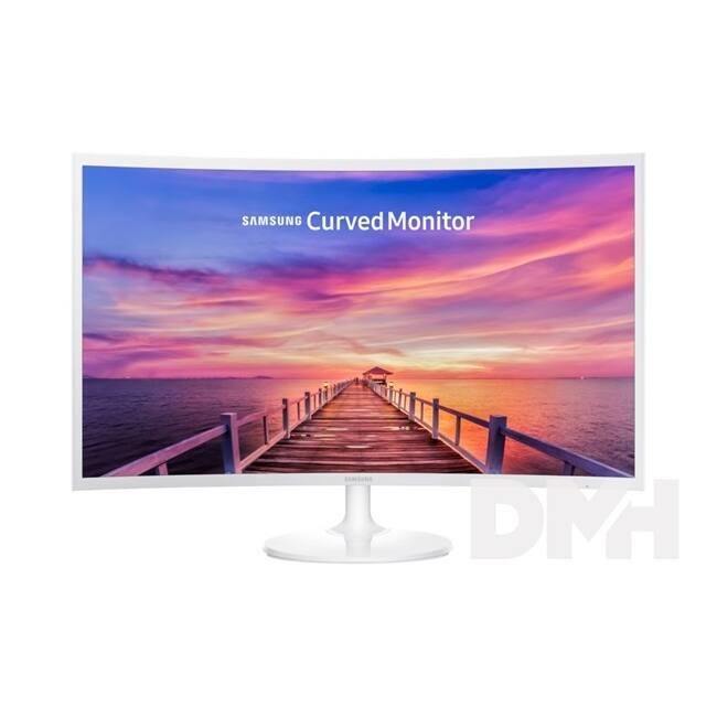 """Samsung 31,5"""" C32F391FWU LED HDMI Display port ívelt kijelzős fehér monitor"""