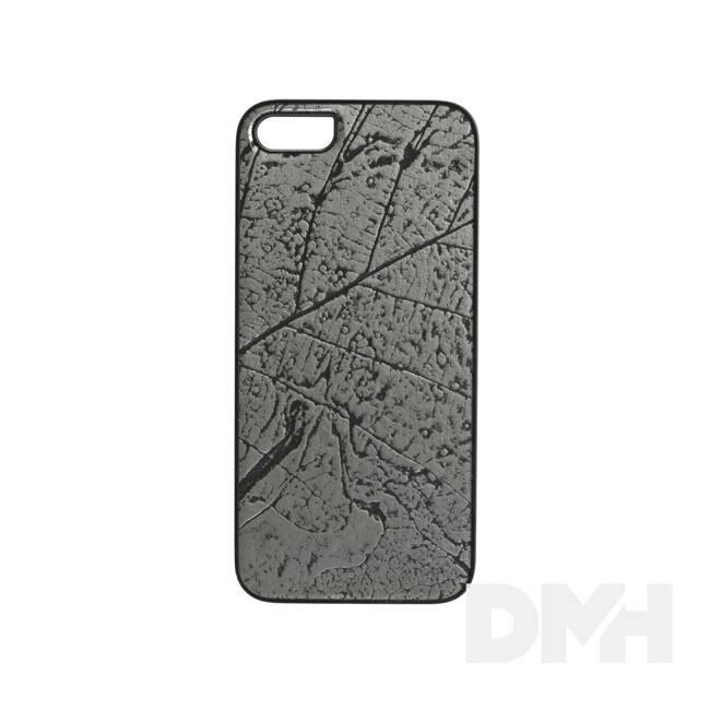 iKin K1314J iPhone 6/6S ezüst falevél mintás fém tok