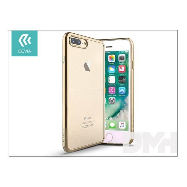 Devia ST992682 GLITTER SOFT iPhone 7+ pezsgőarany hátlap