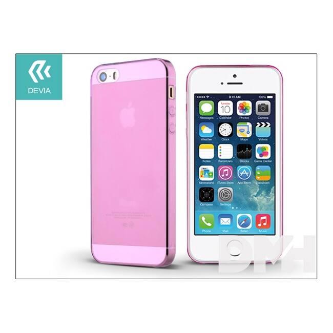 Devia ST983468 NAKED iPhone 5/5S/5SE rózsaszín hátlap