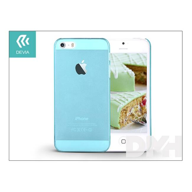 Devia ST983833 Smart iPhone 5/5S/5SE Crystal kék hátlap