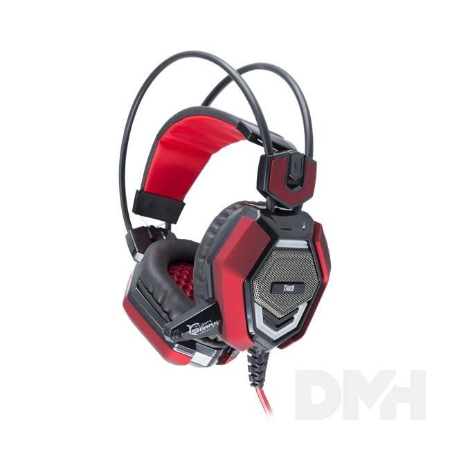 White Shark GH-1644 TIGER fekete/piros Gaming headset