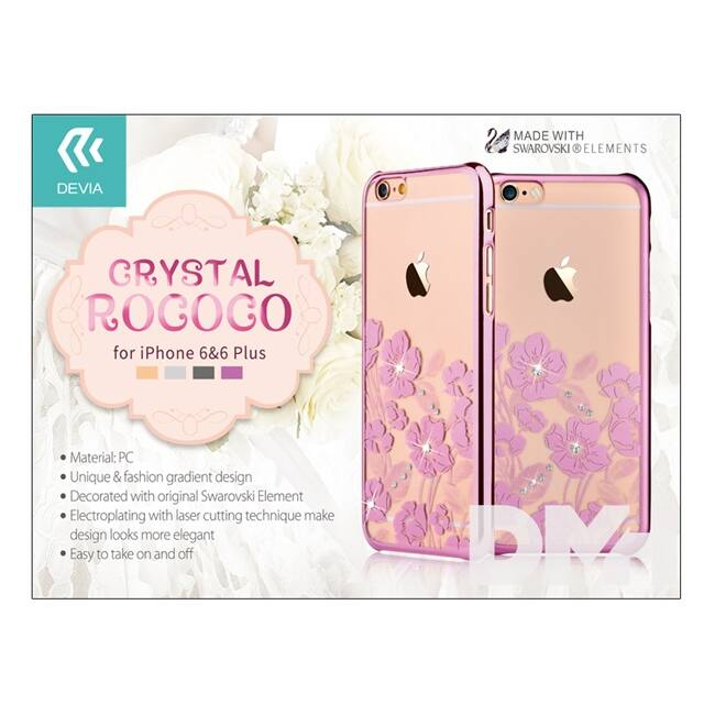 Devia ST967703 Crystal Rococo iPhone 6/6S rózsaarany hátlap