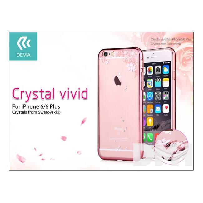 Devia ST978754 Crystal Vivid iPhone 6/6S rózsaarany hátlap