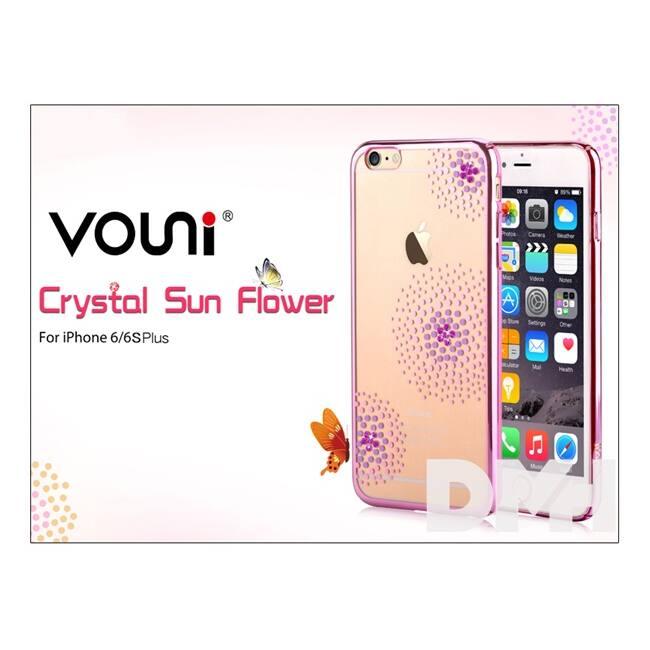 Vouni ST969363 Crystal SUN iPhone 6+/6S+ rózsa rózsaszín hátlap