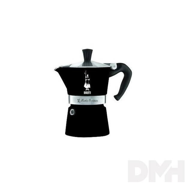 Bialetti Moka Express Colour 3 személyes fekete kotyogós kávéfőző