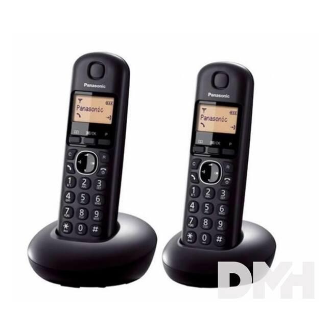 Panasonic KX-TGB212PDB DUO hívóazonosítós fekete dect telefon