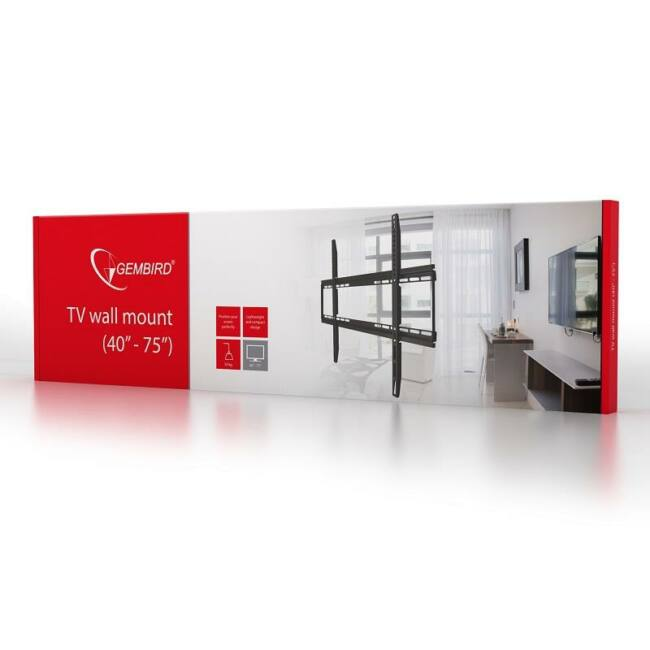Gembird TV wall mount (fixed), 40''-75''