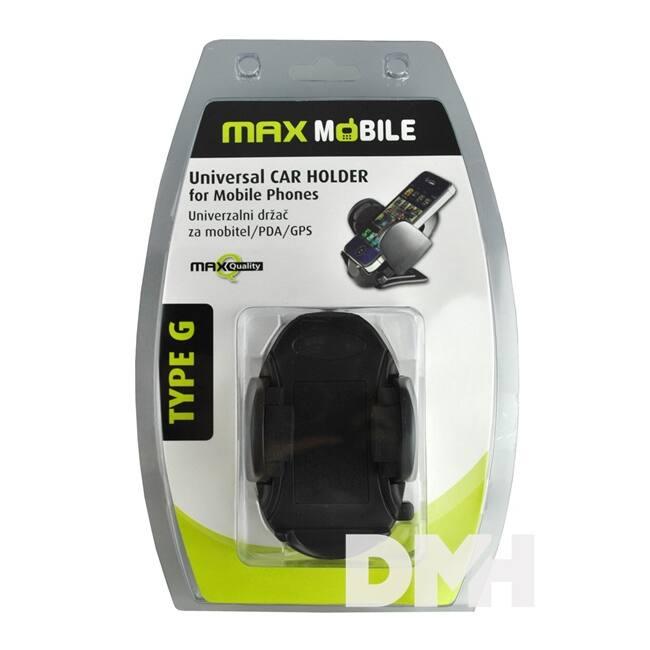 Max Mobile fekete autós telefon/PDA tartó
