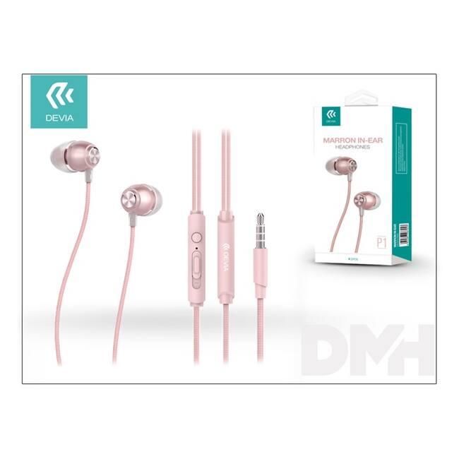Devia ST987053 Marron rózsaarany mikrofonos fülhallgató