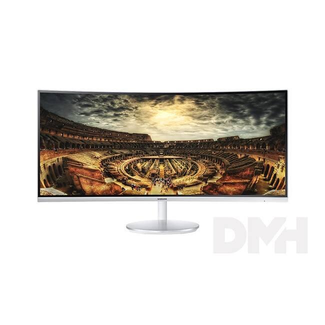 "Samsung 34"" C34F791WQU LED 2HDMI Display port ívelt kijelzős fehér monitor"