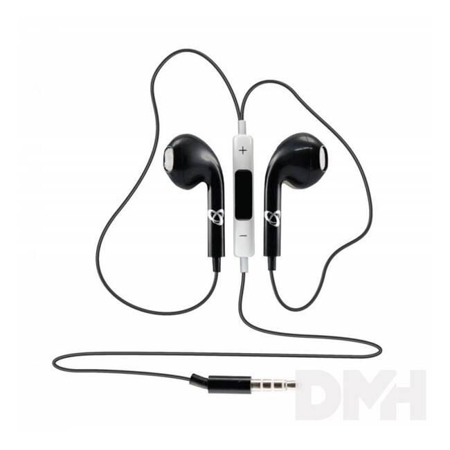Sbox IEP-204B fekete mikrofonos fülhallgató