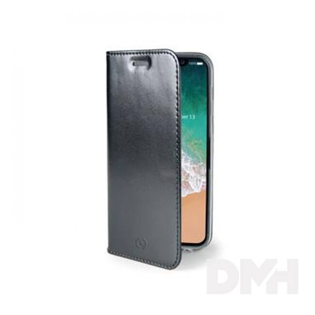 CELLY AIR900BK Celly Air Case iPhone X fekete oldalra nyíló flip tok