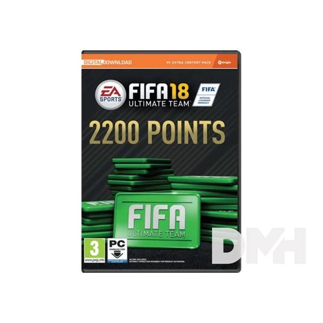 FIFA 18 2200 FUT POINTS PC játékszoftver