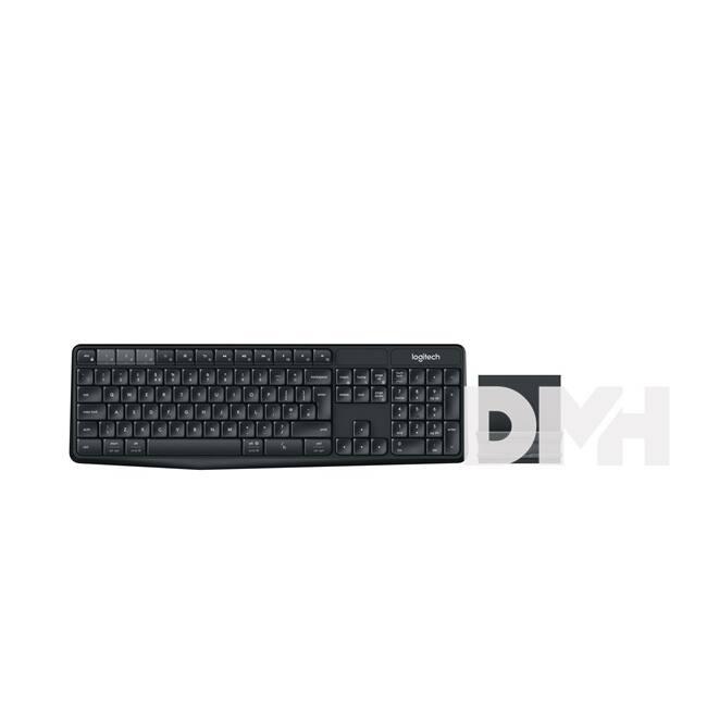 Logitech K375s Multi-device fekete Bluetooth állvány és billentyűzet