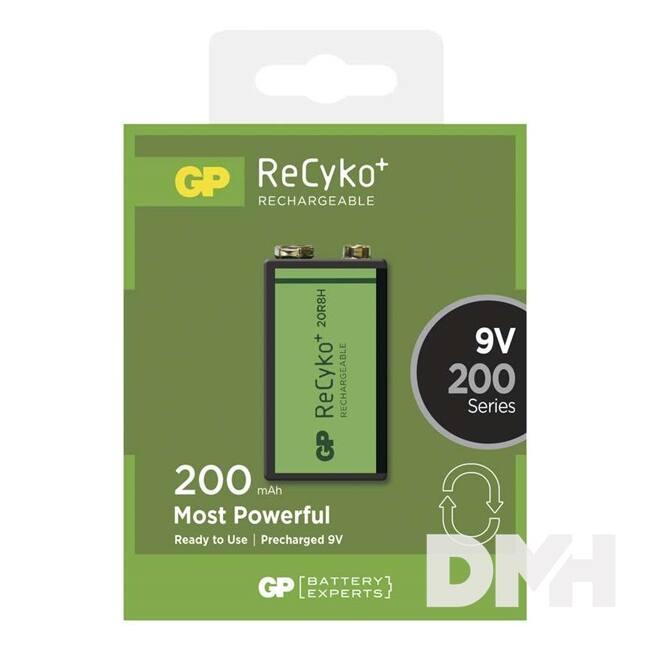 GP ReCyko+ 9V (8,4V) akku 200mAh 1db/bliszter