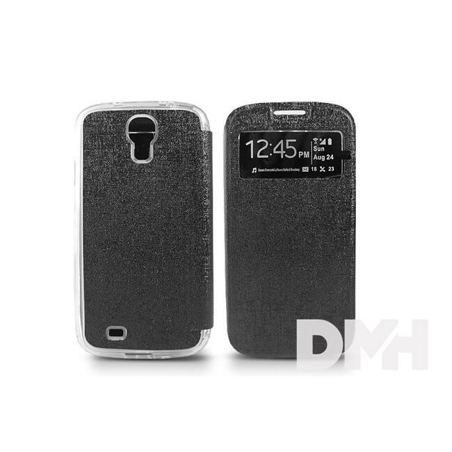 Haffner PT-2484 S-View Flexi Samsung Galaxy I9500 S4 fekete tok