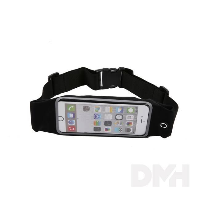 iTotal CM2915 fekete univerzális telefontartó sportöv telefontároló rekesszel