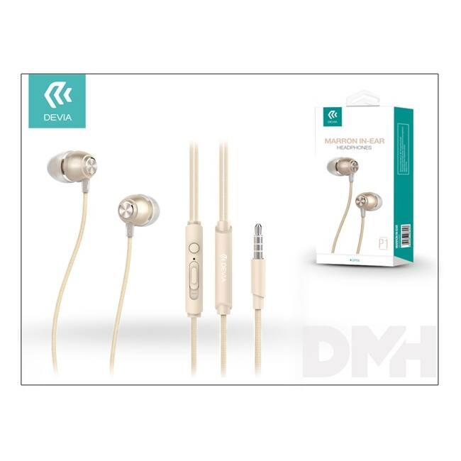 Devia ST987060 Marron pezsgőarany mikrofonos fülhallgató