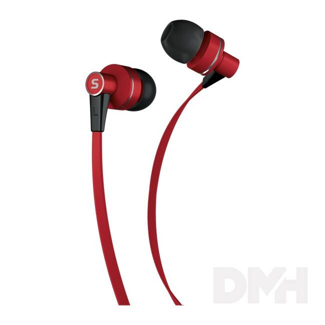 Sencor SEP 300 RED piros mikrofonos fülhallgató