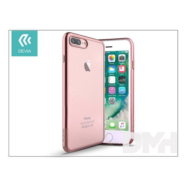 Devia ST992705 GLITTER SOFT iPhone 7+ rózsaarany hátlap